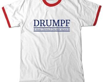 Drumpf, Make Donald Drumpf Again Ringer T-Shirt Oliver Trump Tee