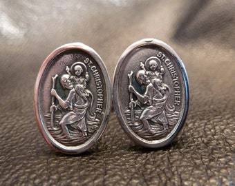 St. Christopher Cuff Link
