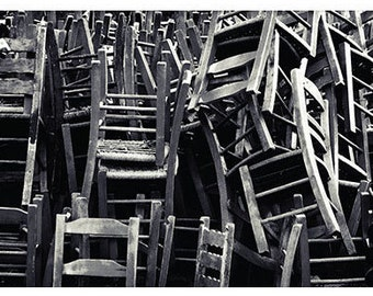 Chairs - art print on canvas / photo paper