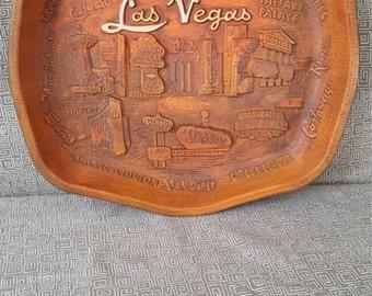 Vintage 3D Las Vegas Tray