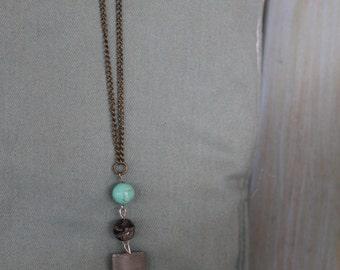 Stone Pendant, Turquoise Necklace