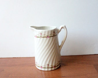 Antique Floral  Pitcher Shabby Chic