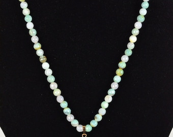 207 Bead Necklace with semi-precious agate