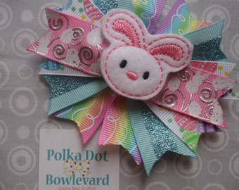 Easter Bunny Mini Spiked Bow