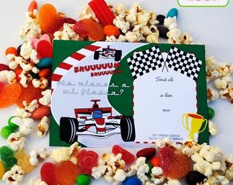 Printable Kit Formula 1