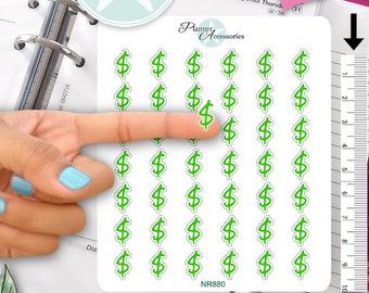 Clear Dollar Stickers Money Stickers Dollar Sign Stickers Planner Stickers Erin Condren Functional Stickers Decorative Stickers NR880