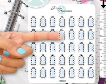 Clear Hydrate stickers, drink water reminder stickers, Erin Condren planner stickers,workout sticker,water bottle,functional stickers NR982