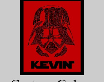 Personalized Darth Vader Star Wars Canvas or Print Personalized Darth Vader wall art,Star Wars themed bedroom Decor with name,PRINT / CANVAS
