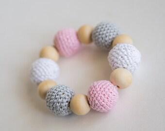 Crochet Bead Ring Teething Toy