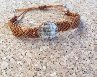 Bracelet beige Aragonite