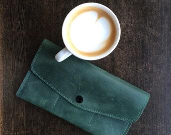 Leather Wallet, Vintage leather wallet, handmade wallet