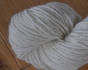 British Masham Aran weight natural undyed wool yarn in 100 gram hanks.
