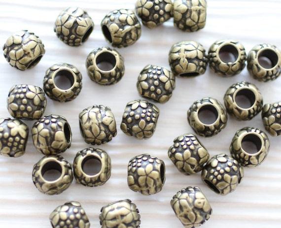 Pc antique gold beads metal bracelet spacer