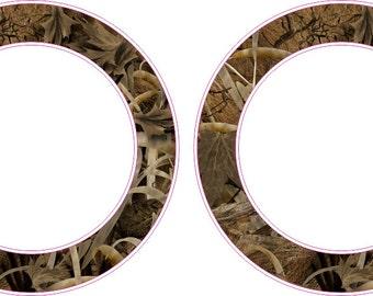 Grass Land Camo Rings Rings Cornhole Board Hole Ring Stickers Baggo Vinyl Decal