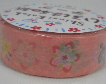 2016 Seal-do Iroha-Washi Masking Tape 15mm x 10m ZIgZag Flowers Shinzi Katoh ks-wt-10040