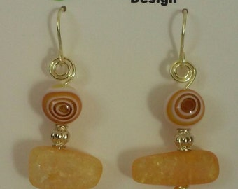 Crystal handmade earrings. Free domestic shipping