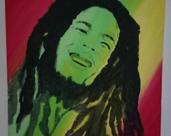 Bob Marley canvas painting