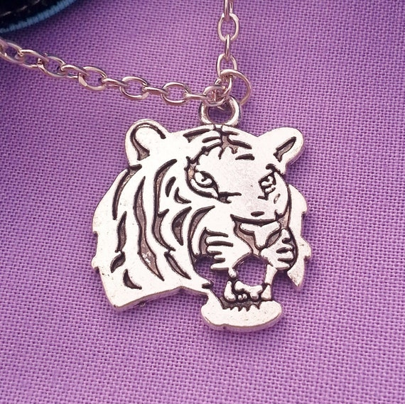Tiger Charm Necklace, Tiger Charms, Tiger School Mascot, Mascot Charms, Team Spirit Jewelry, Mascot Charms, Sports Jewelry, Team Coach Gift