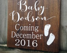 Pregnancy announcement, Pregnant, Mommy to be, Baby coming soon, Pregnancy announcement sign, Wood signs