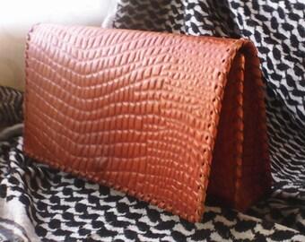 Leather bag. Handmade leather bag ladies leather. 1965-1975