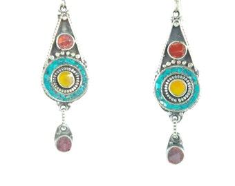 Tibetan ethnic earrings
