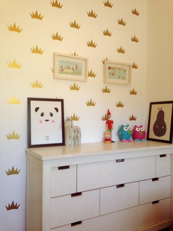 Black Crown Wall Decor : Black friday crown wall decal mini princess