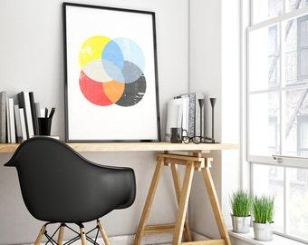 poster scandinavian, poster circles, geometric art, abstract art, nordic design, poster spheres, geometric design, poster geometric, modern.