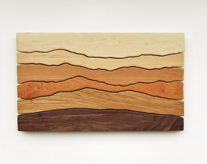 Made to Order, Mountain View, Wood Wall Art, Wall Decoration, Modern Wood Design, Wall Art, Modern Decor, Mountain art, Ridge