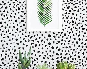 Dalmatian Wallpaper / Traditional or Removable Wallpaper L075