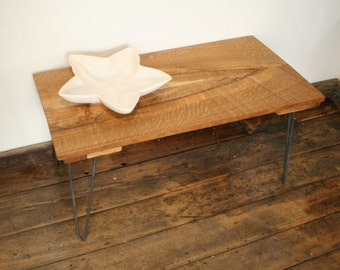 Coffee Table / Side Table / White Oak / Quarter Sawn / Hairpin Legs