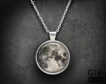 ON SALE Moon Necklace Full Moon Pendant Full Moon Jewelry Gift - Full Moon Necklace Pendant - Moon Jewelry Full Moon Necklace Pendant Moon J