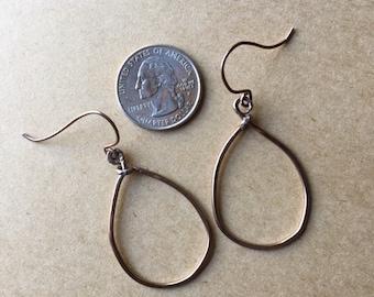 Handcrafted silver-tone loop earrings