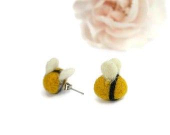 Bee Earrings, Bee Gifts For Her, Bee Gifts Accessories, Gifts Bee Lovers, Bee Gifts UK, Bee Birthday Gift, Bee Jewellery, Bumblebee Earrings