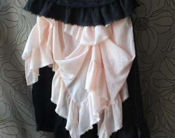 Women's skirt, Renaissance skirt, Black Cotton