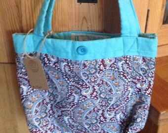 Handmade paisley handbag
