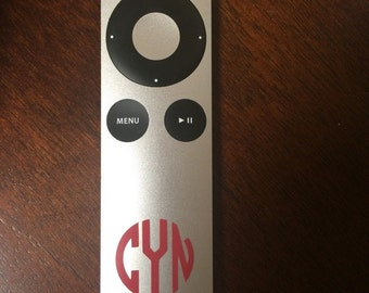 Small Vinyl AppleTV Remote Monogram