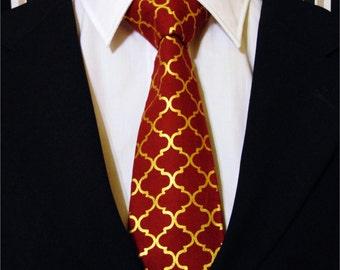 Burgundy Necktie, Burgundy tie, Red, Gold Necktie, Gold Tie, Mens Necktie, Mens Tie, Father, Day, Dad, Gift, Wedding, Bridal, Tie, Metallic