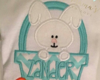 Easter boy shirt, Baby boy easter shirt, monogrammed easter shirt,