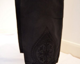 Cotton Trousers with Embroidery for Kurtas