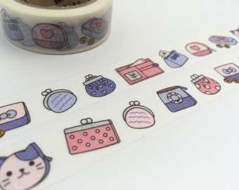 10M purses hand bag washi tape little bags girl bags cat purses decor tape payday sticker tape payday life planner sticker gift