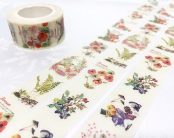 colorful  flower Washi tape 10M pretty wild flower Vibrant flower Masking tape Watercolored garden flower sticker tape flower wrapping gift