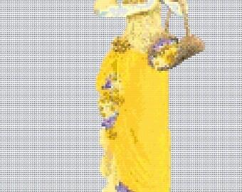 Elegant Lady #17 Cross Stitch Chart