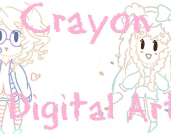 Custom Adorable Crayon Styled Drawings!!