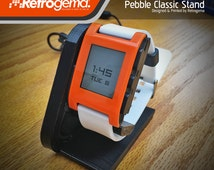 Pebble Classic Smart Watch Charge Stand - Designed & Printed by Retrogema.