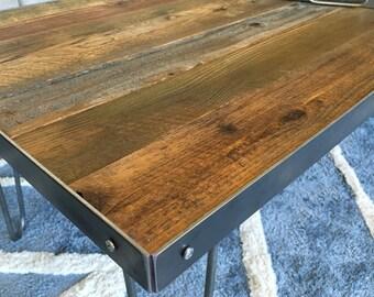 Handmade Reclaimed Wood & Steel Coffee Table