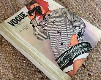 Rare Vintage 1963 Vogue Hardcover Pattern Catalogue Book | Vogue Paris Original Designs - 60s Fashion Coffee Table Book : FREE SHIPPING