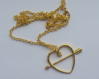 Ron weasel sweetheart necklace gold coloured hermione