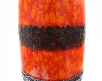 Magnificent Scheurich Floorvase 211-53 Fat Lava West German Pottery