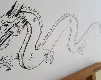 Eastern Dragon illustration
