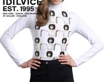 Doors Jim Morrison Torso Repeat Turtle Mock Neck Sweater